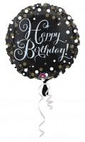 Folienballon Sparkling Happy Birthday
