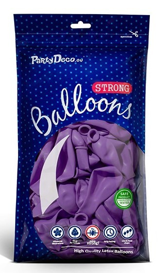 Balony 10 Party Stars fioletowe 27cm