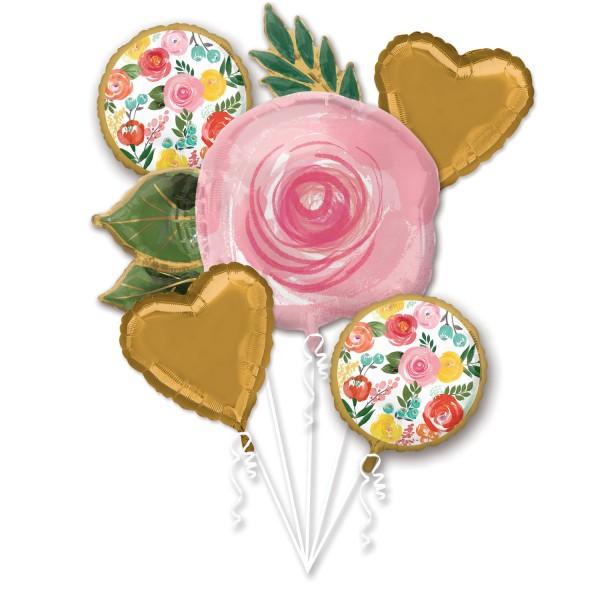Ramo de globos de jardín de rosas