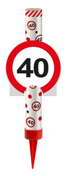 Panneau de signalisation 40 fontaine à gâteau 12cm