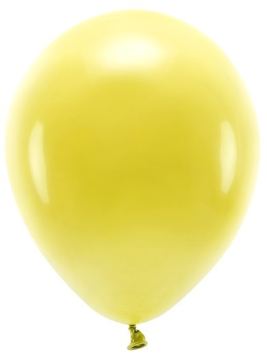 100 Eco Pastell Ballons gelb 26cm