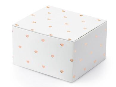 10 coffrets cadeaux centre de table or rose