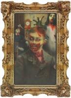 Hologramm Wandgemälde verstecktes Zombie Portrait