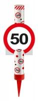Verkehrsschild 50 Tischfontäne 12cm