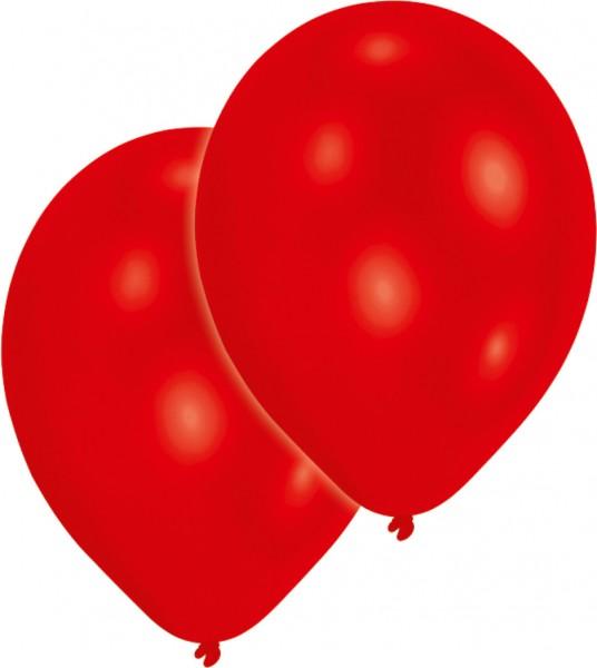 Lot de 25 ballons métalliques rouges 27,5 cm