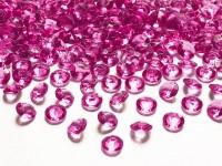 100 Streudeko Diamanten fuchsia 1,2cm