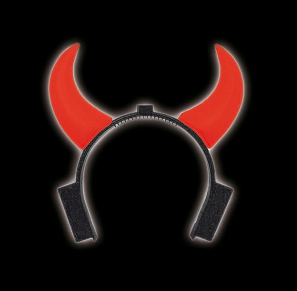 Corni del diavolo rosso brillante a pile
