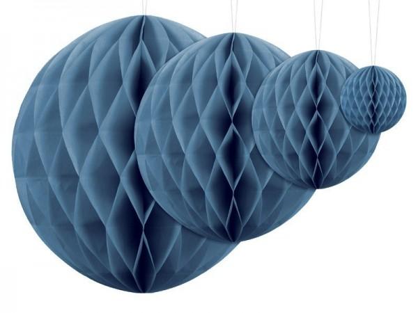 Boule nid d'abeille Lumina bleu 40cm