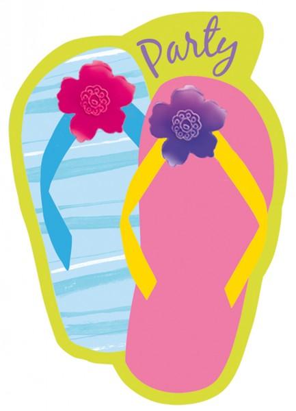 8 Sommer Sandalen Einladungskarten