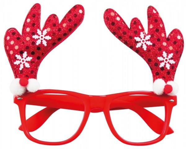 Gafas de renos navideños