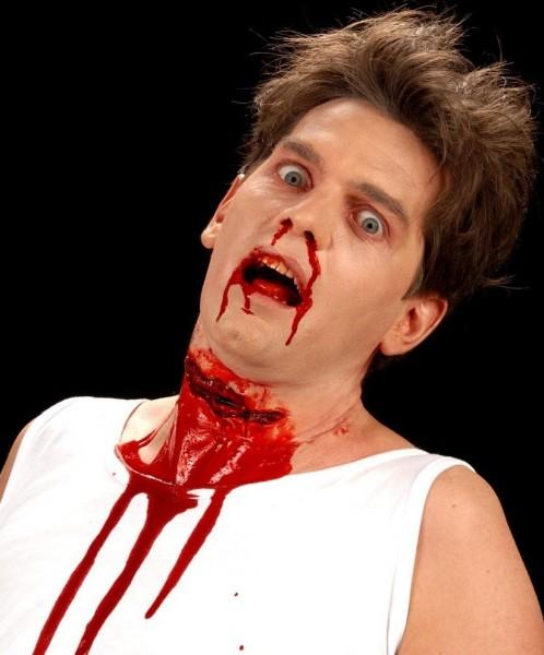 Cicatrice finta gola tagliata Halloween