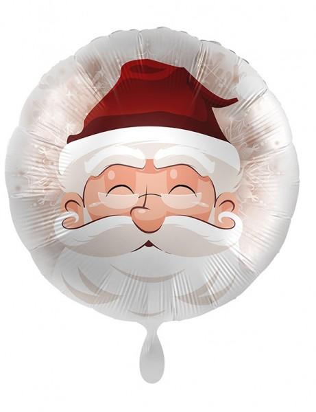 Ballon en aluminium de Noël Père Noël romantique 45cm