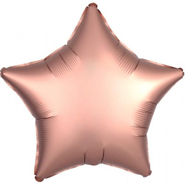 Stars foil balloon rose gold 43cm