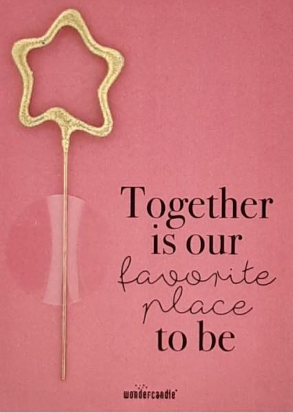 Insieme è il nostro posto preferito Wondercard