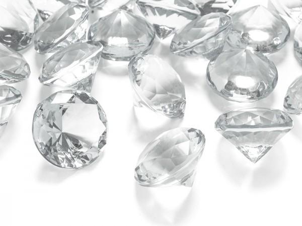 5 Streudeko Diamanten transparent 3cm
