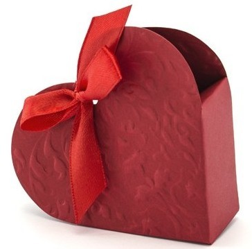 10 red heart gift boxes