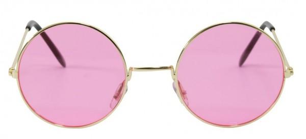 Retro Hippie Brille Rosa