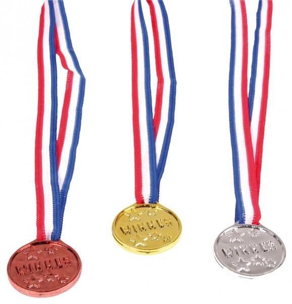 Siegerehrung Medaillen Night Of The Champions Gold-Silber-Bronze