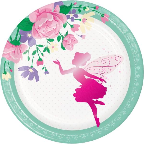 8 Flower Fairy Pappteller 18cm