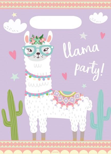 8 Lama Party Geschenktüten