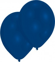 10 royalblaue Luftballons Partyfeuer 27,5cm