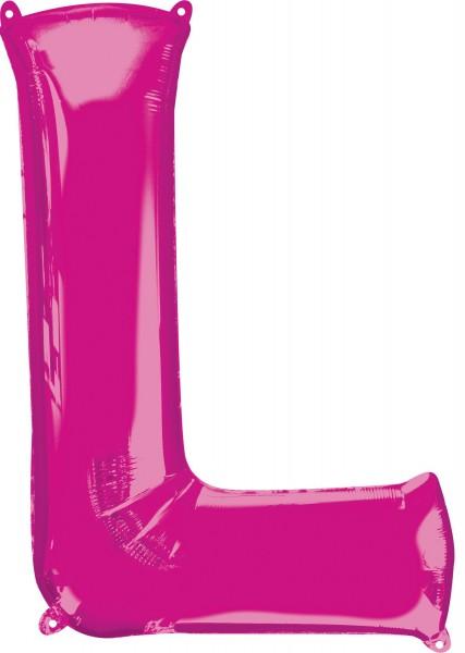 Folienballon Buchstabe L pink XL 81cm