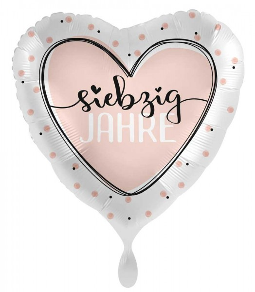 70. Geburtstag Ballon Shiny Heart 45cm