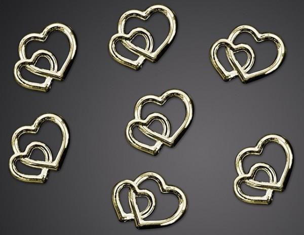 25 Verspreide harten huwelijk goud