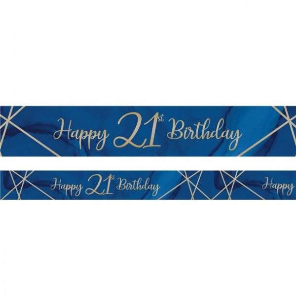 Luxurious 21th Birthday Banner 2,74m
