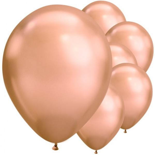 25 latex balloons rose gold 28cm