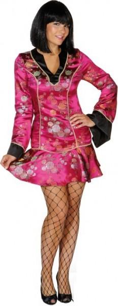 Pinkes Asialady Kleid Kiku