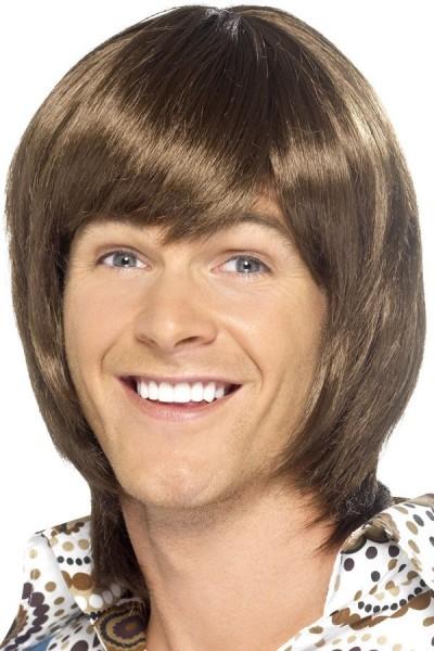 Brown 70s wig