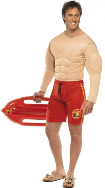 Muscular lifeguard men's costume