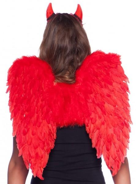 Große Teufelsflügel in Rot 50cm