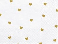 Vorschau: 20 Goldene Herzregen Servietten 33cm
