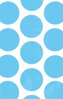 10 Candy Buffet Geschenktüten azurblau