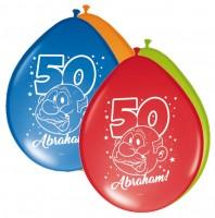 8 Abraham Celebration Luftballons 30cm
