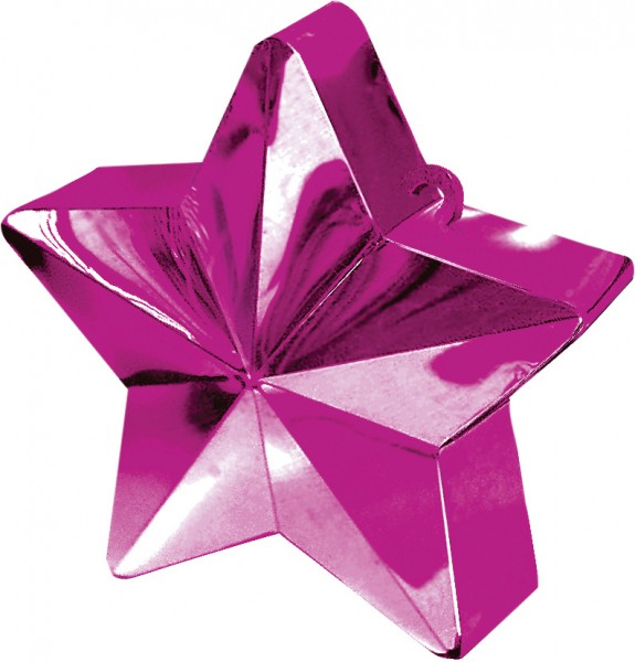 Star Balloon Weight in Magenta
