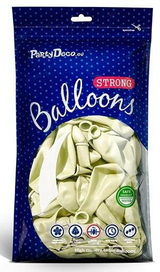 10 Partystar metallic Ballons creme 27cm