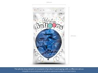 100 Celebration metallic Ballons zitronengelb 29cm