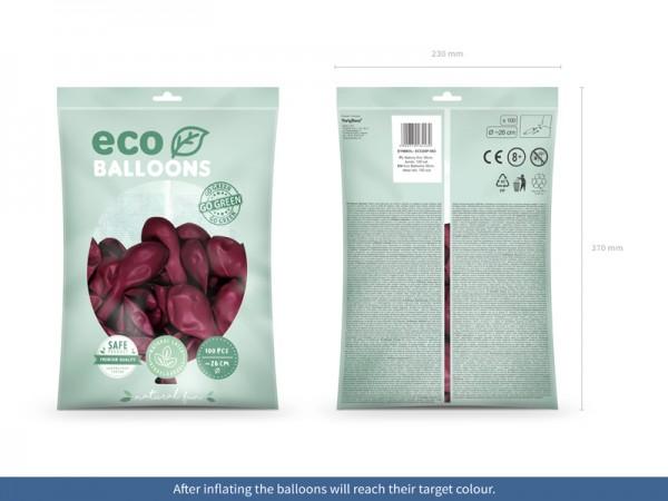 100 Eco Pastell Ballons brombeere 26cm