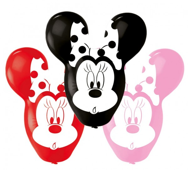 4 Minnie Mouse Riesenohren Ballons