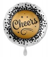 Ballon aluminium du Nouvel An Cheers 45cm
