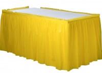 Tischumrandung Mila gelb 4,26m x 73cm