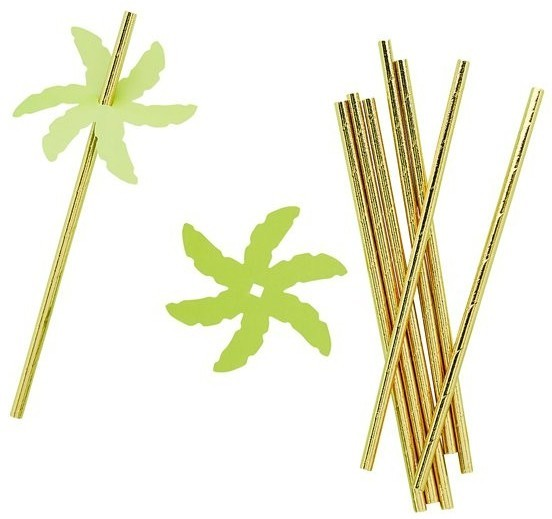 24 palm straws made of paper