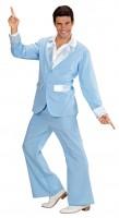 70er Jahre Womanizer Kostüm Hellblau