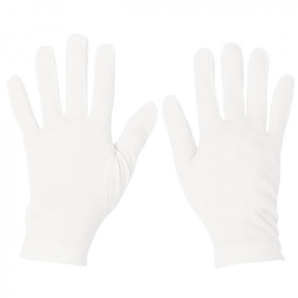 White cotton gloves for adults