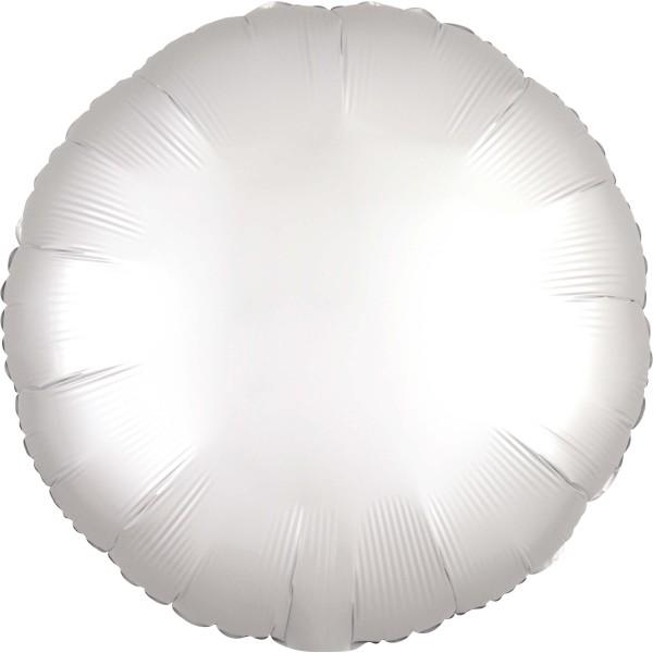 Noble satin foil balloon white 43cm