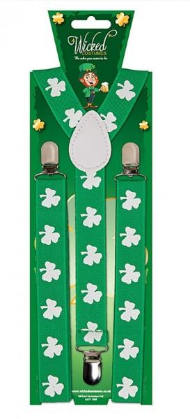 St. Patricks Day Kleeblatt Hosenträger