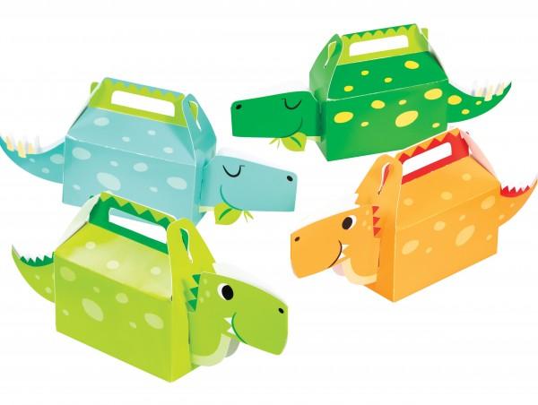 4 Dino Kinder Geschenkboxen